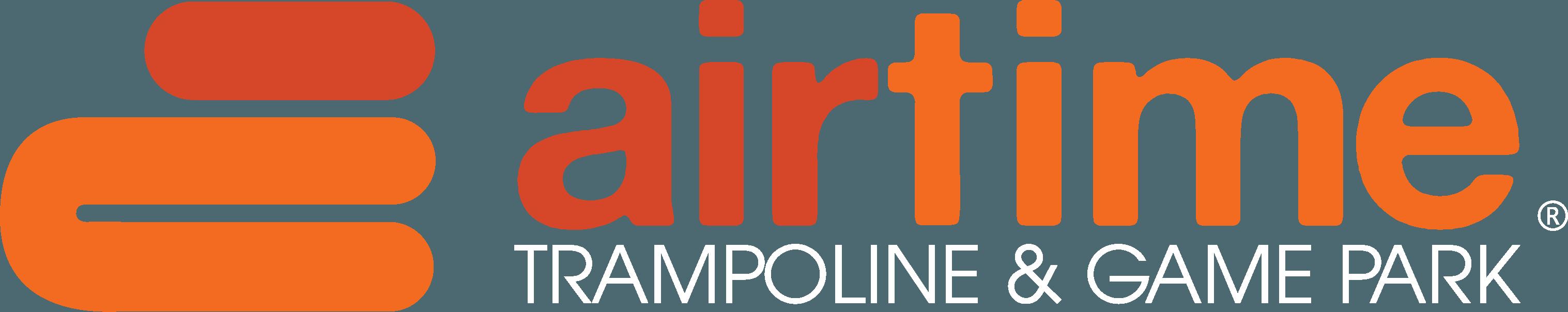 AirTime Trampoline Logo White