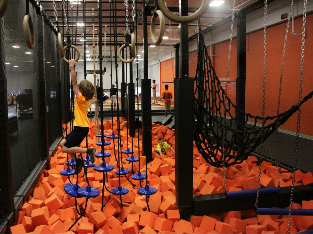 AirTime Trampoline Ninja Warrior Course