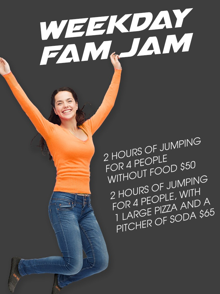 AirTime Trampoline Weekday Fam Jam Offer